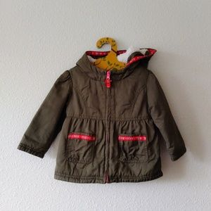 Cat & Jack Baby Olive Green Coat 18 Months
